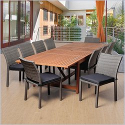 International Home Amazonia11 Piece Extendable Patio Dining Set