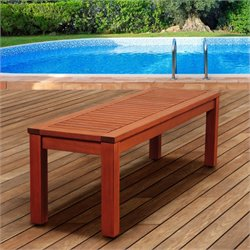 International Home Amazonia Outdoor Bench in Brown