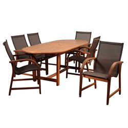 International Home Amazonia 7 Piece Extendable Patio Dining Set