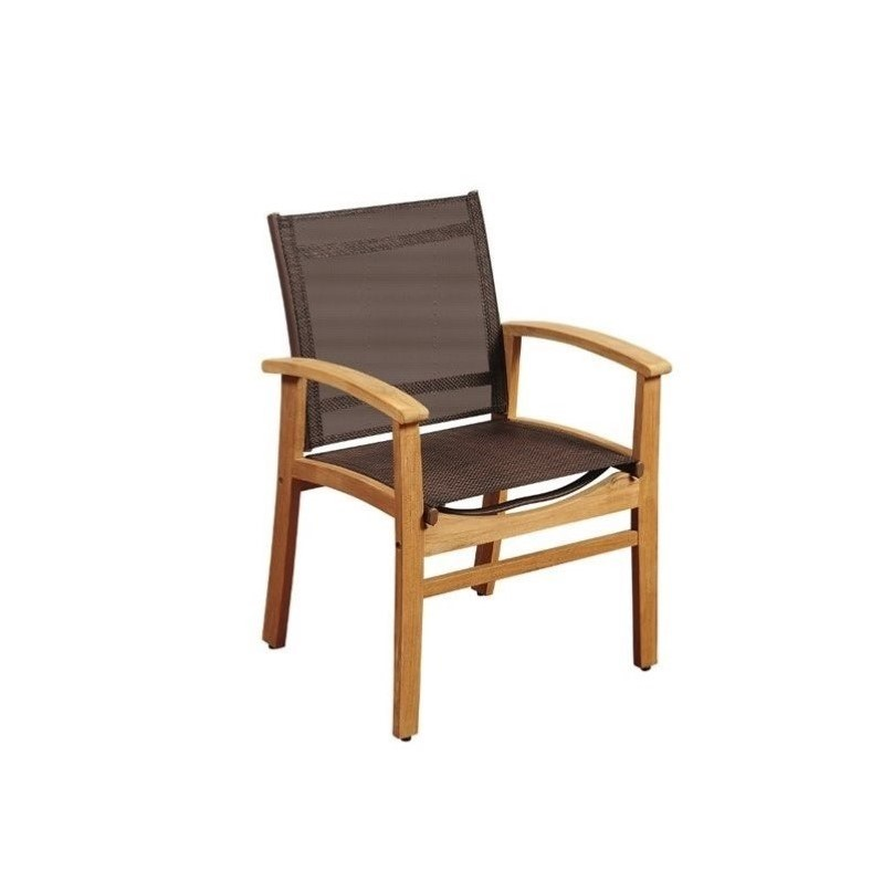 International Home Amazonia Teak Patio Dining Chair in