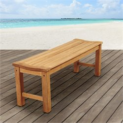 International Home Amazonia Teak Outdoor Bench in Brown