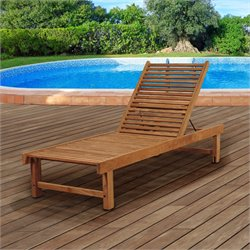 International Home Amazonia Teak Patio Lounge in Brown
