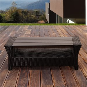 International Home Atlantic Outdoor Coffee Table in Black