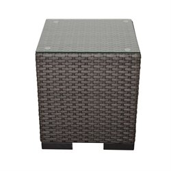 International Home Atlantic Patio End Table in Gray