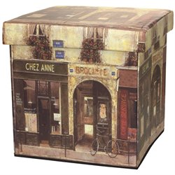 Oriental Furniture French Cafe Storage Ottoman