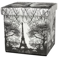 Oriental Furniture Eiffel Tower Storage Ottoman