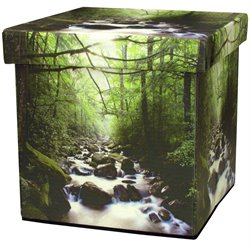 Oriental Furniture River of Life Storage Ottoman