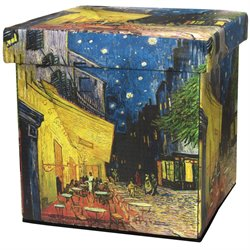 Oriental Furniture Van Gogh Cafe at Night Storage Ottoman