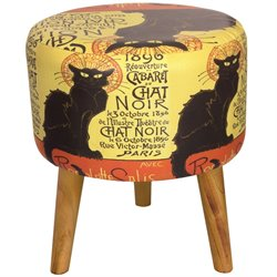 Oriental Furniture Chat Noir Stool