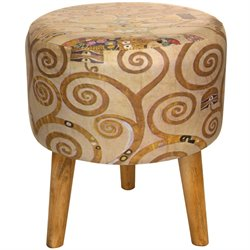 Oriental Furniture Klimt Tree of Life Stool