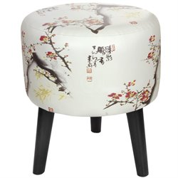 Oriental Furniture Cherry Blossom Stool