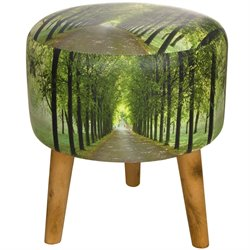 Oriental Furniture Path of Life Stool