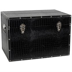 Oriental Furniture Faux Leather Trunk