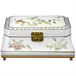 Oriental Furniture Adorlee Jewelry Box in White