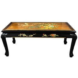 Oriental Furniture Claw Foot Coffee Table in Gold