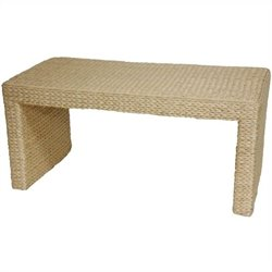 Oriental Furniture Rush Grass Coffee Table in Natural