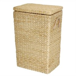 Oriental Furniture Rush Grass Laundry Basket in Natural