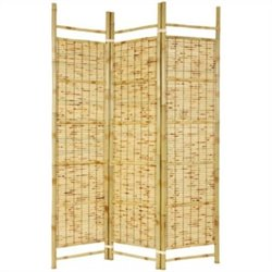 Oriental Furniture 6 feet Tall Burnt Bamboo Shoji Screen