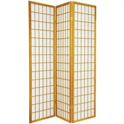 Oriental Furniture Window Pane Shoji Screen in Honey
