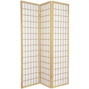 Oriental Furniture Window Pane Shoji Screen in Natural