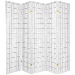 Oriental Furniture Window Pane Shoji Screen in White