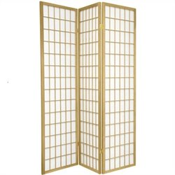 Oriental Furniture Window Pane Shoji Screen with Special Edit in Gold