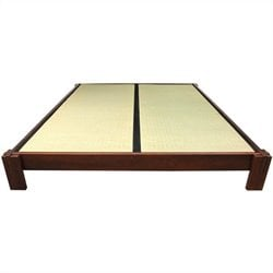 Oriental Furniture Tatami Platform Bed in Walnut - King
