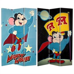 Oriental Furniture 6' Tall Mighty Mouse Room Divider in Multicolor