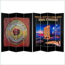 Oriental 6' Grateful Dead Mars Hotel and American Beauty Room Divider