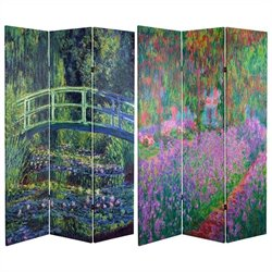 Oriental Water Lily and Garden Room Divider