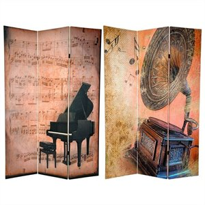 Oriental Piano and Phonograph Room Divider