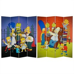 Oriental Furniture 6' Tall Halloween Room Divider in Multicolor