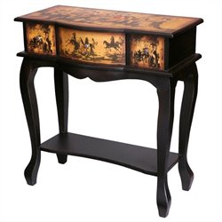 Oriental Furniture Ladies Tea Time Display Table in Yellow