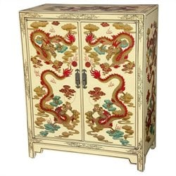 Oriental Furniture Shoe Cabinet in White