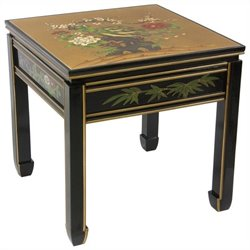 Oriental Furniture Square Ming Table in Gold