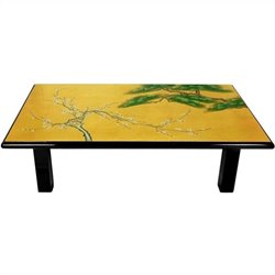 Oriental Furniture Coffee Table in Gold