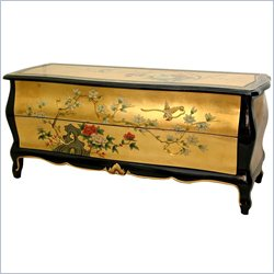 Oriental Furniture Flat Screen TV Cabinet in Gold