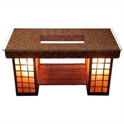 Oriental Furniture Renato Coffee Table in Brown