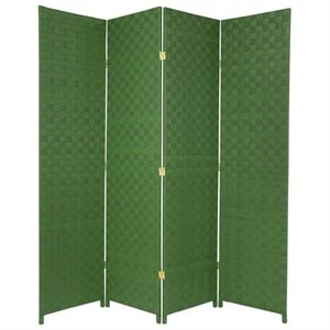 Oriental All Weather Outdoor 4 Panel Room Divider in Green