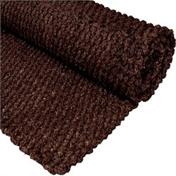 Oriental Furniture Woven Area Rug in Dark Brown - 2 feet x 3 feet