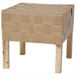 Oriental Furniture Woven Stool in Natural