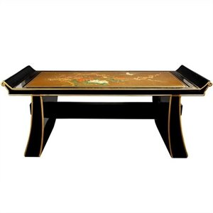Oriental Furniture Shinto Coffee Table in Gold