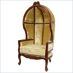 Oriental Furniture Queen Victoria Balloon Chair in Gold