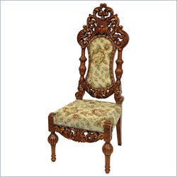 Oriental Furniture Queen Victoria Parlor Chair in Beige