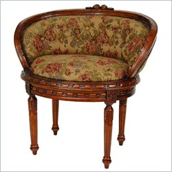 Oriental Furniture Queen Mary Parlor Chair in Brown