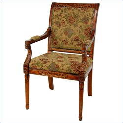 Oriental Furniture Queen Victoria Sitting Room Chair in Brown