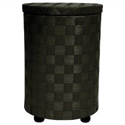 Oriental Furniture Laundry Hamper in Black
