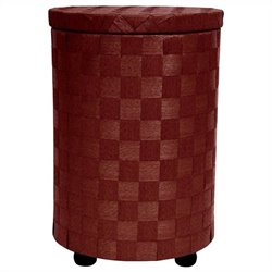 Oriental Furniture Laundry Hamper in Mahogany