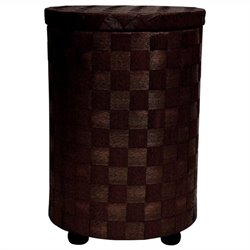 Oriental Furniture Laundry Hamper in Mocha