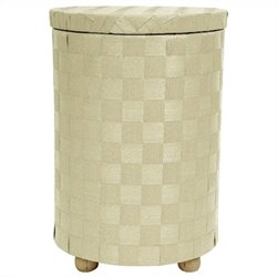 Oriental Furniture Laundry Hamper in White